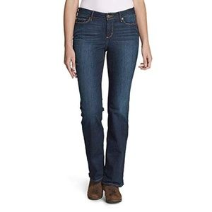 Eddie Bauer Womens Slight Boot Cut Curvy Jeans